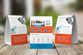 Table Tents Template Mobile Apps Table Tent Template Magazine Templates Creative Market