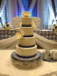 classic simple and beautiful 3 tier white wedding cake with quilt