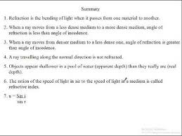 Light Is Not Refracted When It Is Siba Learning Zone Summary Of Refraction Youtube