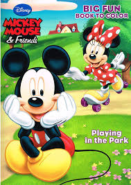 amazon com mickey mouse coloring book set 4 books assorted