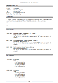 curriculum vitae format download doc file cv sles download doc ideas of 14 inspirational resume format