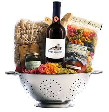 theme gifts italian themed gift basket in a colander with borgo scopeto