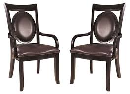 Dining Room Arm Chair Antique Chairside Chest With Leather Dining Room Chairs With Arms