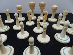 antique ivory chess set origins age collectors weekly