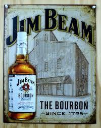 bourbon sign jim beam the bourbon tin sign bar liquor kentucky