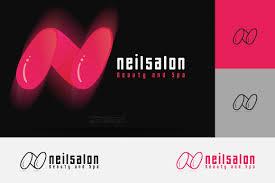 nail salon logo logo templates creative market