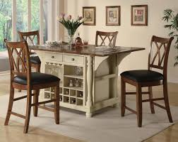 Kitchen Island Table With Stools Buttermilk And Cherry Kitchen Island W Countertop