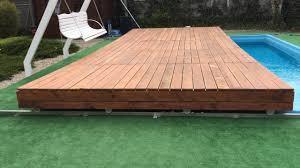 mobile pool deck terrace youtube