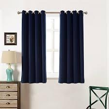 short blackout curtains amazon com