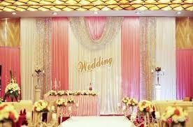 wedding backdrop name design 3m 6m silk white color wedding drape curtain pleated wedding