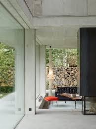 Glass Walls by Modern Concrete House With Glass Walls Digsdigs