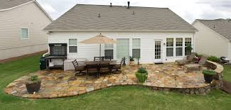 Slope For Paver Patio by Stone Patio Ideas Crafts Home