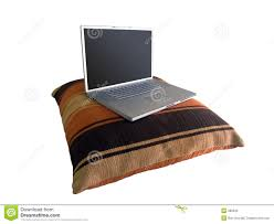 Laptop Desk Pillow by Laptop On Pillow Stock Photo Image 386030