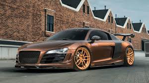 wrapped r8 dub magazine prior design audi r8 v10 on rose gold adv1 wheels