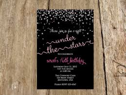 Sweet Sixteen Invitations Cards Night Under The Stars Sweet Sixteen Birthday Bridal Shower