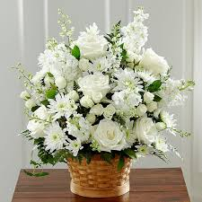 white floral arrangements white funeral flowers and flower arrangements
