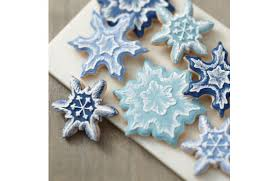 snowflake cookies wilton brush embroidered snowflake cookies a c