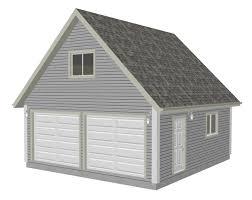 garage plans with loft apartment g526 22 x 24 8 garage plan with loft dwg and pdf