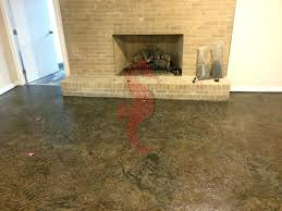 Diy Basement Flooring Concrete Basement Floor Previously Carpet Acid Stain Walls Cost