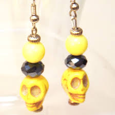 sold halloween skull earrings linorstore jewelry u0026 kippah