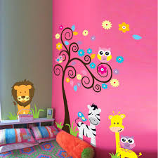 compare prices on zebra stickers wall online shopping buy low new cute owl tree zebra wall stickers for kids rooms european and american wind lion animal