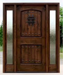 glass wood doors exterior door with sidelights pre finished