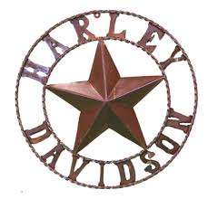 Metal Star Home Decor Harley Davidson