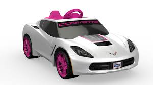 corvette power wheels girls u0027 corvette 6v battery powered ride on walmart com