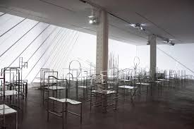 nendo shows 50 manga chairs within light installation at new
