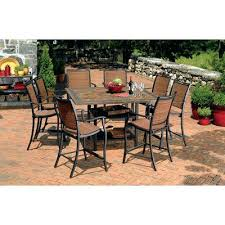 Patio High Chairs Bar Height Outdoor Dining Set 5 All Weather Wicker Patio Bar