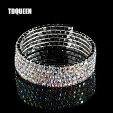 rhinestone bangles bracelet images Ab crystal rhinestone bangle bracelets silver plated spiral upper jpg