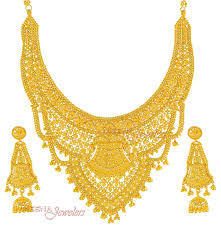 new necklace set images Gold necklace and earrings set 22kt indian jewelry with jpg