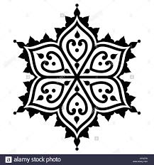 mehndi indian henna tattoo desgin star shape stock vector art