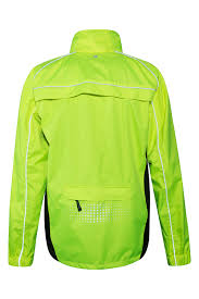 reflective cycling jacket adrenaline mens iso viz jacket mountain warehouse gb