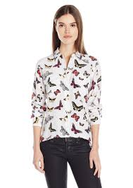 equipment signature blouse equipment equipment s slim signature butterfly top s