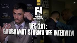 ufc 207 cody garbrandt storms out of interview with dominick cruz