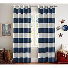 Blue And Striped Curtains 2 Pack Goodgram Coastal Chic Rugby Striped Grommet