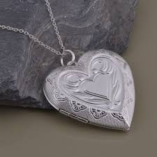 s day locket an1450 low price silver photo frame heart locket pendant necklace
