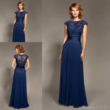 mark lesley dark navy blue bridesmaid dress chiffon long formal