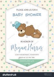 delicate baby boy shower card little stock vector 481864165