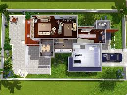 Sims 3 Kitchen Ideas Home Design Modern House Floor Plans Sims 3 Traditional Large