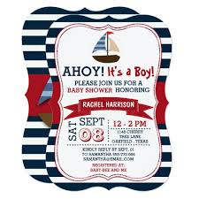 ahoy it s a boy nautical boat baby shower invites zazzle