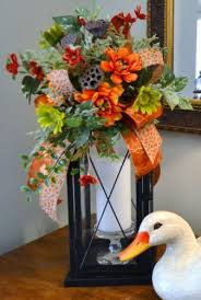 Fall Table Arrangements 93 Best Lanterns And Swags Images On Pinterest Christmas