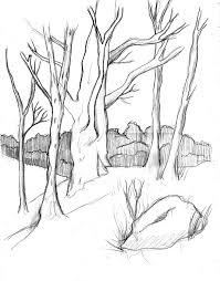 trees sketch by manuzan on deviantart