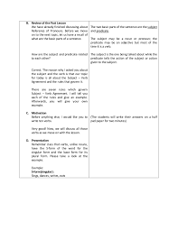 detailed lesson plan subject verb agreement