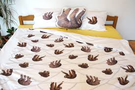 Bedsheets Handmade Sloth Bedding Sloth Duvet Cover Sloth Bedsheets