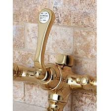 Tub Faucet Hand Shower Wall Mount Polished Brass Clawfoot Tub Faucet With Hand Shower