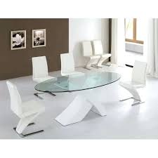 large glass top dining table oval glass top dining table geekoutlet co