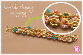 diy chains bracelet images Chain bracelet with studs and cord jpg