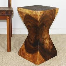 Natural Wood End Tables Squeezed Rectangle Wood End Table Natural Wood Decor